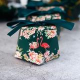 Glimlachend bloem Anders Kaart Papier Bedank Doosjes met Linten (Set van 50) (050197426)