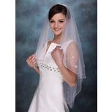 Einschichtig Ellenbogen Braut Schleier mit Perlenbesetzter Saum (006005407)