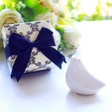 Love Bird Pepper Shaker in Black Damask box Wedding Favor (Sold in a single) (051178599)