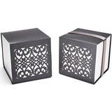 Schicke im chinesischen Stil Cubic Geschenkboxen mit Bänder (Satz von 12) (050025741)