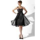 Empire Sweetheart Knee-Length Chiffon Charmeuse Bridesmaid Dress With Ruffle (007000808)