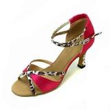 Femmes Satiné Sandales Latin Salle de bal Chaussures de danse (053012987)