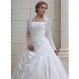 Long Sleeve Tulle Wedding Wrap (013022585)
