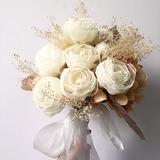 Délicat Rond Fleur en soie Bouquets de mariée/Bouquets de demoiselle d'honneur - (123205635)