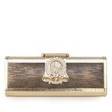 Elegant Metall/PU mit Blumenmuster Handtaschen (012033886)