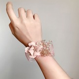 Delicate Hand-tied Imitation Pearl/Artificial Flower Wrist Corsage - (123205637)