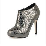 Talon stiletto Plateforme Bout fermé Bottines chaussures (088017204)