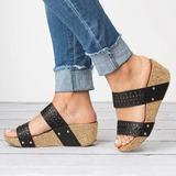 Frauen PU Keil Absatz Sandalen Keile mit Andere Schuhe (116201038)