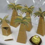 Kokosnöt Träd Designen Favör Boxas (Set om 12) (050013115)