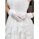 Elastische Satin Handgelenk Länge Party/Weise Handschuhe/Braut Handschuhe (014035889)