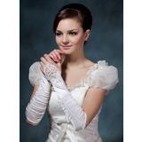 Elastische Satin Ellenbogen Länge Braut Handschuhe (014020515)