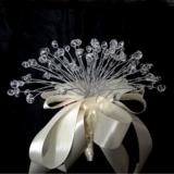 Elegant Rund Satin/Kristall Brautjungfer Blumensträuße - (123031503)