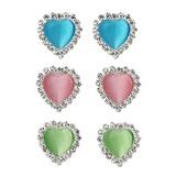 Herzförmige Harz Metall Damen Art-Ohrringe (137052306)