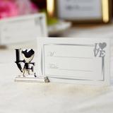 Liebe-Entwurf Chrom Platz-Kartenhalter (4-er Set) (089025020)