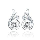 Elegant Sterling Silber/Kristall Damen Ohrringe (011037031)