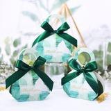 Jolie thème floral en forme de diamant Carte papier Sacs cadeaux avec Rubans (Lot de 20) (050203429)