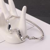 Vakkert Legering Crystal med Imitert Krystall Mote Armbånd (Selges i ett stykke) (137199717)