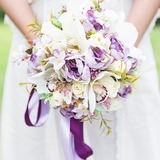 Blooming Free-Form Silk Flower Bridal Bouquets/Bridesmaid Bouquets - (123205630)