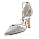 Kvinnor Glittrande Glitter STILETTKLACK Stängt Toe Pumps med Strass (047010755)