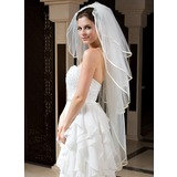 Four-tier Ribbon Edge Waltz Bridal Veils With Ribbon (006035783)