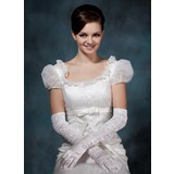 Elastic Satin Opera Length Bridal Gloves (014020509)