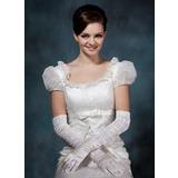 Elastische Satin Opera Länge Braut Handschuhe (014020509)