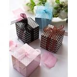Cubic Karton Papier Geschenkboxen mit Bänder (Satz von 12) (050016119)