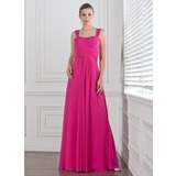 Empire Sweetheart Floor-Length Chiffon Bridesmaid Dress With Ruffle (007005310)