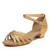 Kids' Leatherette Sandals Latin Dance Shoes (053207167)