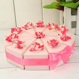 Pyramid Favor Boxes With Flowers/Ribbons (Set of 10) (050031669)