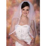 Einschichtig Ellenbogen Braut Schleier mit Band Rand (006020340)