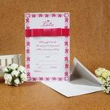 Classic Style Flade kort Invitation Cards med Bånd (Sæt af 50) (114030739)