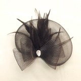 Elegant Strass/Feather/Tule Fascinators (042026159)