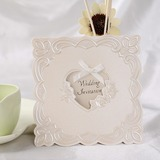 Stile Cuore Fold Top Invitation Cards con Nastri (Set di 50) (114032365)