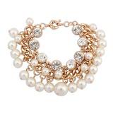 Prächtig Legierung mit Faux-Perlen Damen Armbänder (011053756)