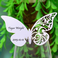 Mariposa diseñan Papel perlado Tarjetas del lugar (juego de 12) (131037411)