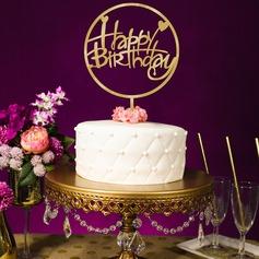 Stile classico/Buon compleanno Acrilico Decorazioni per torte (119154800)