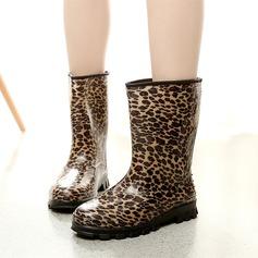 Frauen PVC Keil Absatz Stiefel Stiefel-Wadenlang Regenstiefel mit Andere Schuhe (088127041)