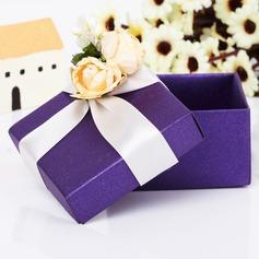 Classique Cuboïd Boîtes cadeaux avec Fleurs (Lot de 12) (050039706)