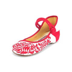 Kvinner Klut Annet Flate sko Lukket Tå med Button sko (086094916)