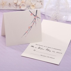 Personalized Floral Style Top Fold Response Cards (Set of 20) (114063930)