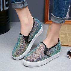 Frauen Funkelnde Glitzer Flascher Absatz Flache Schuhe mit Funkelnde Glitzer Schuhe (086113808)