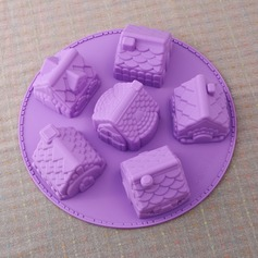 En Forma de Casa Lindo Silicona Molde de la torta (051053249)