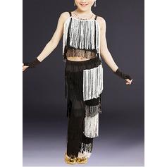 Per bambini Abbigliamento danza Dello spandex Ballo latino Completi (115168404)
