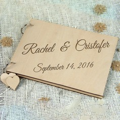Personalized design Wood Guestbook (101198158)
