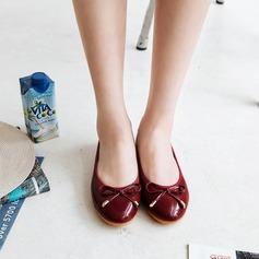 Donna PU Senza tacco Ballerine Punta chiusa con Bowknot scarpe (086142473)