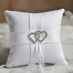 Elegant Ring Pillow in Cloth With Loving Hearts (103190784)