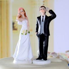 Bride And Groom Resin Wedding Cake Topper (122036178)