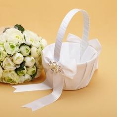 Piuttosto Cesto di fiori in Raso con Prua/Strass/Di faux perla (102038631)