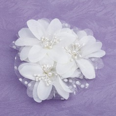 Kids Gorgeous Imitation Pearls/Satin/Tulle Flowers & Feathers (042026381)